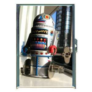 KL ROBOT TIN TOY 1960s COLORFUL ID CREDIT CARD WALLET CIGARETTE CASE