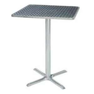 Bar Table With X Base 28W X 28D X 42H   Chrome