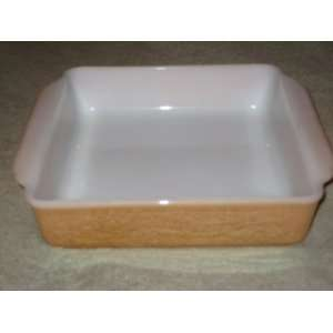 Anchor Hocking Fire King Glass Peach Luster 8 Inch Square Baking Pan