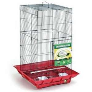 Clean Life Tall Bird Cage   Red & Black