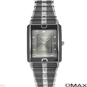 Men Watches Two Tone Black N Sliver Stainless Steel Band Black Dial