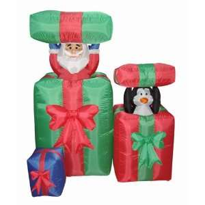 Airblown Inflatable Animated Peek A Boo Santa Lighted Christmas