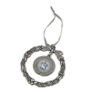 Phi Delta Theta Pewter Holiday Ornament