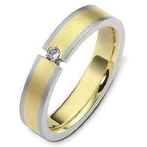Yellow Gold & Titanium Diamond Wedding Band   10 Dora Rings Jewelry