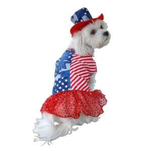 Anit Accessories Patriotic Dress Dog Costume, 8 Inch