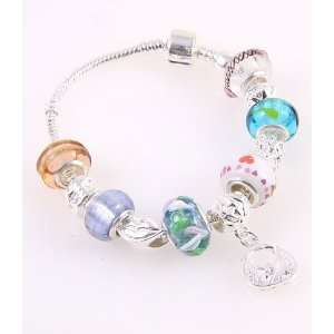 Fashion Jewelry Desinger Murano Glass Bead Bracelet with Pattern Multi