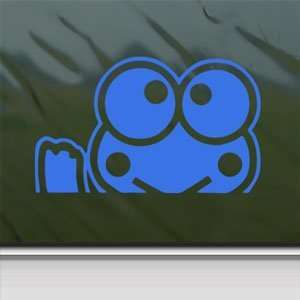 KEROPPI Blue Decal HELLO KITTY WAVING Truck Window Blue