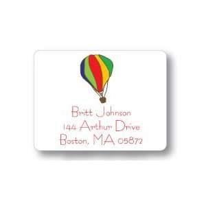 Dot Pear Design   Square Stickers (Hot Air Balloon)
