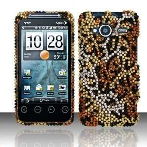 HTC Evo Shift 4G 4 G Cell Phone Full Crystals Diamonds Bling