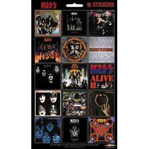 KISS 15 MINI ALBUM STICKER SET Toys & Games