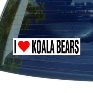 I Love Heart KOALA BEARS   Window Bumper Sticker