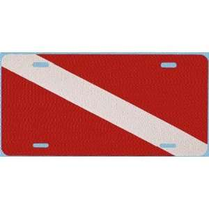 New Diver Down Flag License Plate Tag (Aluminum)