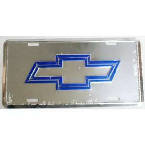 on Chrome 6 x 12 Embossed Aluminum License Plate