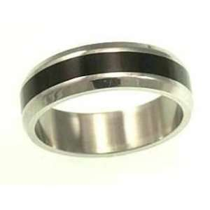 kala isjewels  Mens Stainless Steel Ring with Black Ruthenium  (width