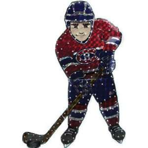 NHL Montreal Canadiens Lighted Hockey Player Car Window Decoration