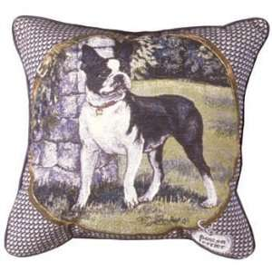 Boston Terrier Decorative Dog Animal Throw Pillow 17 x 17