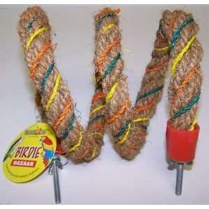 Coco Fiber Bounce Spiral Perch .75in x 48in Bird Toy