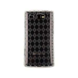 Phone Protector Cover Case Clear Checkered For Samsung Focus Flash