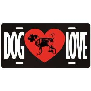 New  Love Standard Schnauzer  License Plate Dog