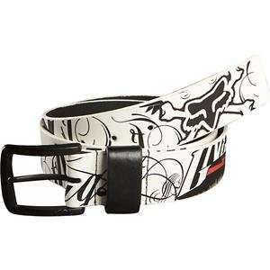 Fox Racing Victory Belt   Medium/White Automotive