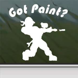 GOT PAINT PAINTBALL White Sticker Car Vinyl Window Laptop