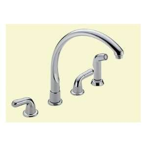 DELTA Two Handle Kitchen Faucet W/ Spray 2276 LHP Chrome