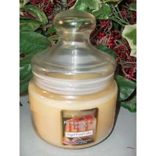 Angel Food Cake Scented Wax Candle in Apothecary Glass Jar