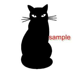 CAT SHADOW WHITE VINYL DECAL STICKER