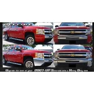 07 11 CHEVY SILVERADO 1500 FRONT BUMPER CHROME COVER CAPS CORNERS 2WD