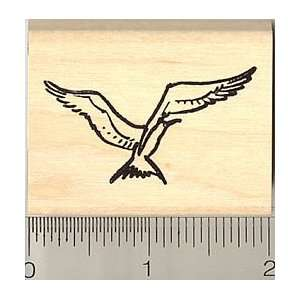 Seagull Rubber Stamp   Wood Mounted Arts, Crafts & Sewing