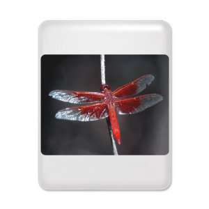 iPad Case White Red Flame Dragonfly