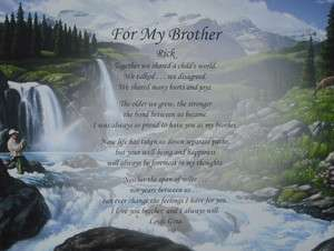 PERSONALIZED POEM FOR BROTHER BIRTHDAY / CHRISTMAS GIFT