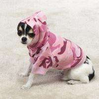 PINK CAMO DOG HOODIE SWEATER COAT PUPPY PET CLOTHES