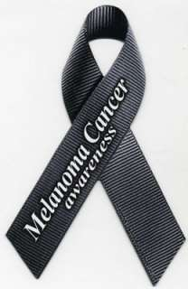 Melanoma Awareness Ribbon Magnet. These realistic ribbon magnets will
