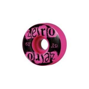 Zero Punk Pink Skateboard Wheels   52mm 99a (Set of 4