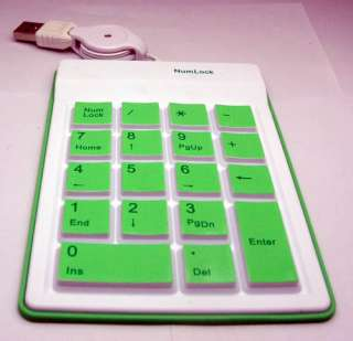 100 % new high quality mini silicone usb numeric number keyboard