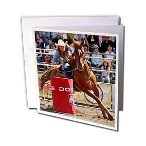 Horse   Barrel Racing   Greeting Cards 12 Greeting Cards