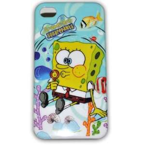 Spongebob Squarepants Hard Case for Iphone 4g/4s Ib033a + Free Screen